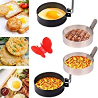 Egg Ring,Stainless Steel Omelet Mold,Non Stick Egg Ring Mold,Cooking Tool for Fried Egg 4 Pack