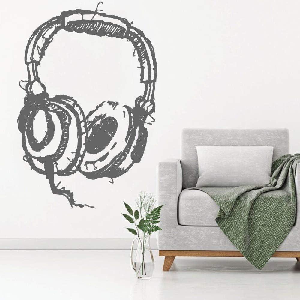 Ajcwhml Escuchando Auriculares Decoraciones de Pared Resumen Auriculares Musicales Estudio Etiqueta de la Pared Inicio Moda Papel Pintado Decorativo 38x57cm: Amazon.es: Hogar