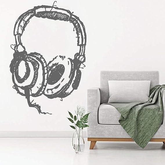 Ajcwhml Escuchando Auriculares Decoraciones de Pared Resumen ...