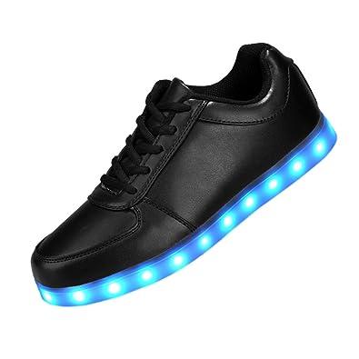 Vnfire Black 8 Colors LED Light-Up Couple Women's Men's Sport Shoes  Sneakers USB Charging