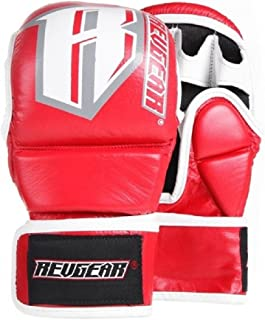 'Revgear MMA Gants de sparring – Red – MMA Fight grappling BJJ Gants en cuir