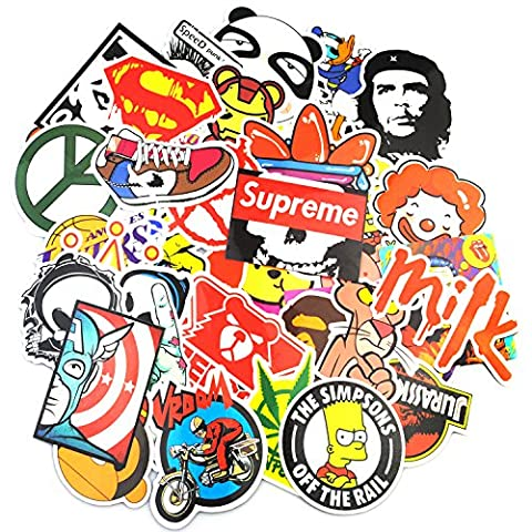 Sticker Pack (200-Pcs), Neuleben Graffiti Sticker Decals Vinyls for Laptop,Kids,Teens,Cars,Motorcycle,Bicycle,Skateboard Luggage,Bumper Stickers Hippie Decals bomb (A Sticker)