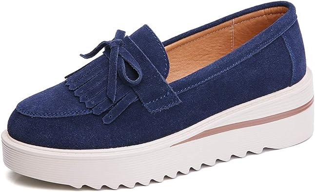 Zapatos Planos de Mujer Plataforma de Primavera Mocasines con ...