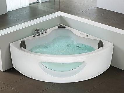 Bath Vasca Da Bagno In Inglese : Vasca idromassaggio angolare da interno vasca spa tocoa: beliani
