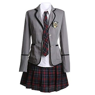 aa49aa07925b URSFUR Womens British Style Japan School Uniform Sets Cosplay Costume Anime  Girl: Amazon.co.uk: Clothing
