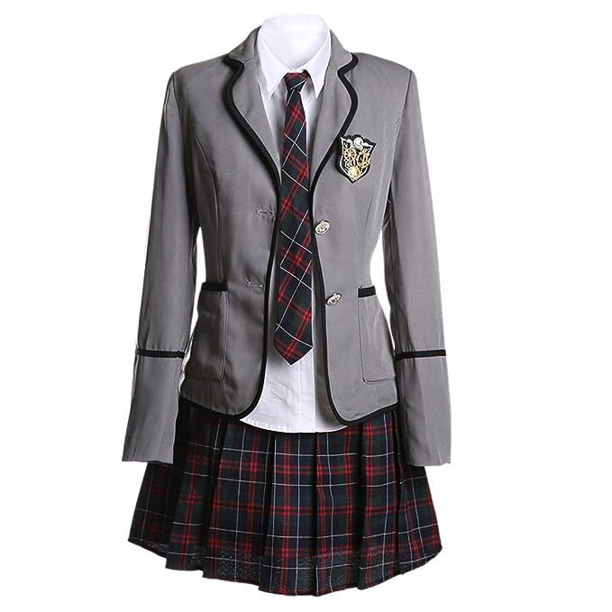 dfe5610656b74 URSRUR Uniforme escolar japonés de niñas chicas traje de marinero de manga  larga traje de cosplay de anime  Amazon.es  Ropa y accesorios