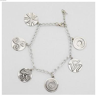 Teen Wolf Inspired Symbols Charm Bracelet Werewolf Triskele
