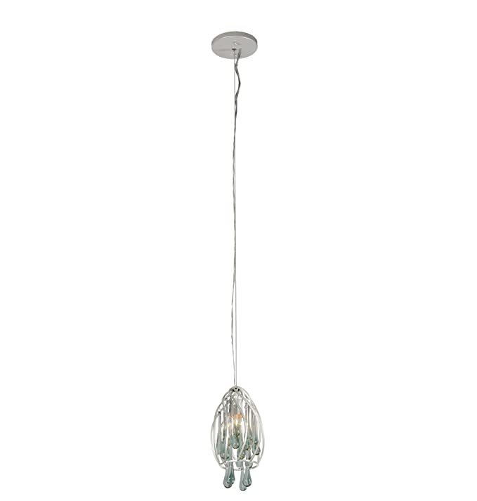 Varaluz 151m01pe area 51 1 light mini pendant pearl finish with recycled glass ceiling pendant fixtures amazon com