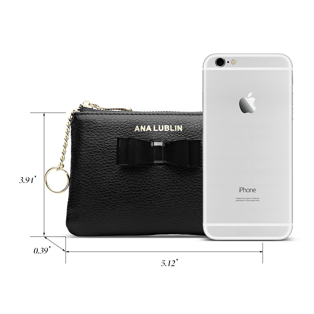 ANA LUBLIN leather Wallet Small Coin Purse Women RFID Blocking Mini Money Pocket by ANA LUBLIN (Image #5)