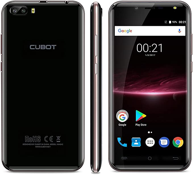 CUBOT Magic Smartphone 4G Android 7.0 MT6737 Quad Core Rear Dual Cameras 3GB RAM +16GB ROM 5.0 Inch HD Curved Display-Oro: Amazon.es: Electrónica