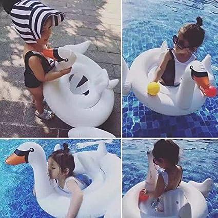 Smartlife cisne cisne blanco anillo de natación inflable para bebé Swim Flotador Agua Piscina Juguetes: Amazon.es: Deportes y aire libre