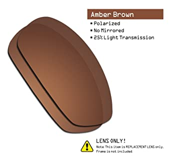 79655e5383 Amazon.com  SmartVLT Men s Amber Brown Replacement Lenses for Oakley  Whisker Sunglass  Clothing