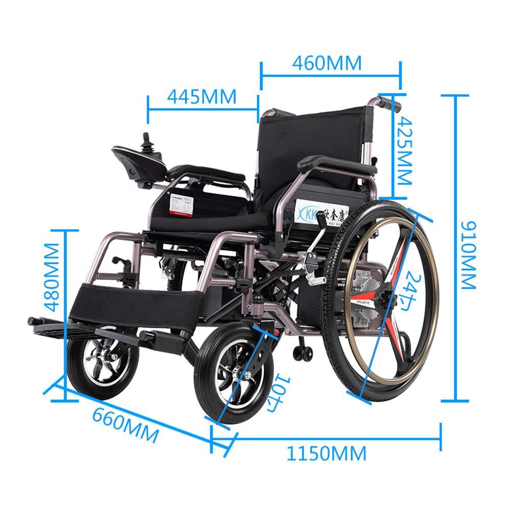 Amazon.com: YOLANDEK - Silla de ruedas plegable (batería de ...