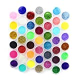 Kuqqi 45 Colors Eyeshadow Nail Art Body Glitter Shimmer Dust Powder Set