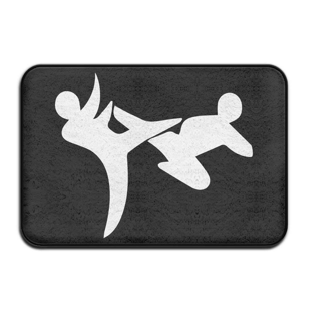 Highest Quality Materials Kitchen Mat I Love Taekwondo Super Cozy Bathroom Rug by starinew