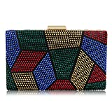 Women Clutches Crystal Evening Bags Clutch Purse Party Wedding Handbags (Multicoloured)