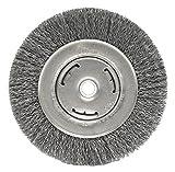 Weiler 6645 Vortec Pro 6'' Bench Grinder Wheel, Wide Face, 0.14'' Steel Fill, 5/8''-1/2'' Arbor Hole