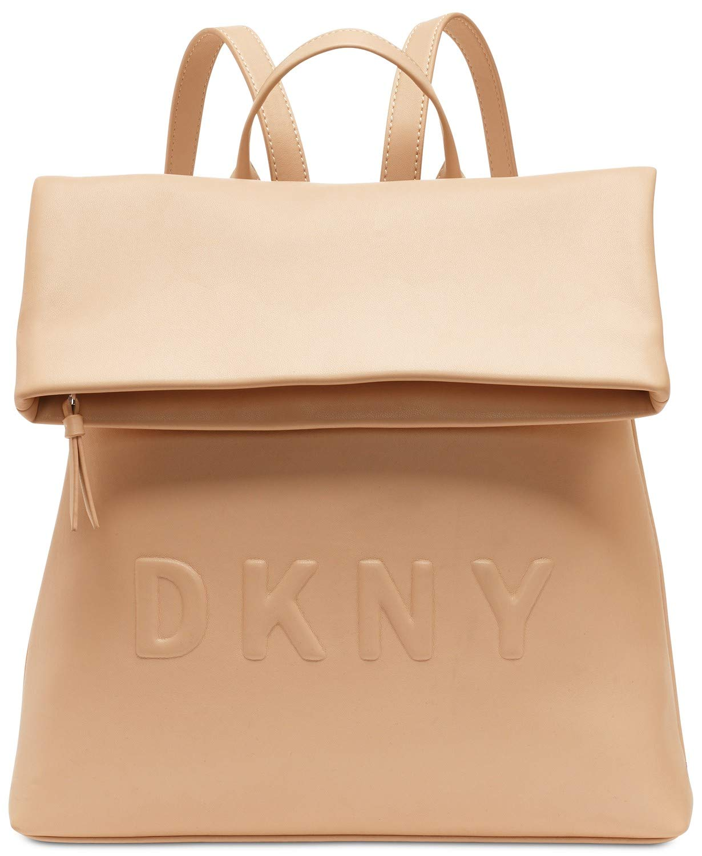 DKNY Tilly Medium Logo Backpack (Latte) by DKNY