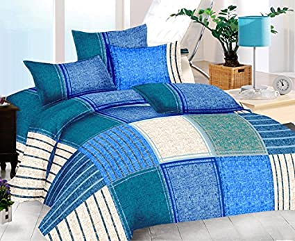 The Intellect Bazaar 160 TC 100% Premium Cotton Double Size Duvet Cover(90 * 90 inch),Blue
