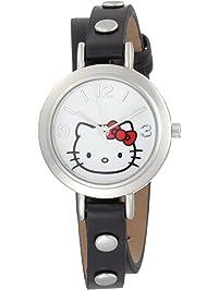 7579932f6 Hello Kitty Women's H3WL1002BK White Dial Watch