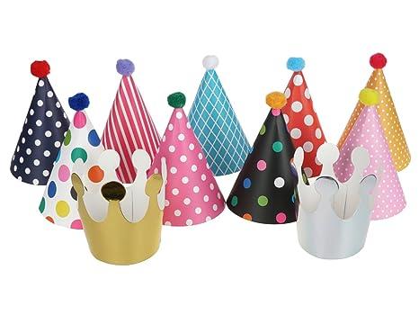 CoolChange Set di Cappellini da Festa costituito da 9 Cappellini e 2  coroncine fe2af015068e