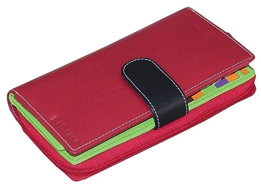 Rallegra - Monedero largo para mujer (RFID, color rojo/verde ...