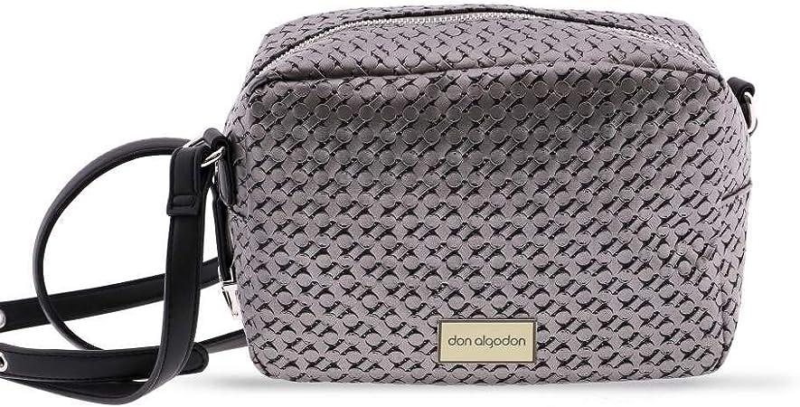 DON ALGODON Bolso Bandolera Texture, Estaño, 30x21,5x11cm: Amazon.es: Equipaje