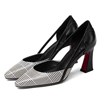 2cc2bbdc GAOLIXIA Zapatos De Tacón Alto De Cuero De Las Mujeres De Primavera Y Verano  Zapatos De