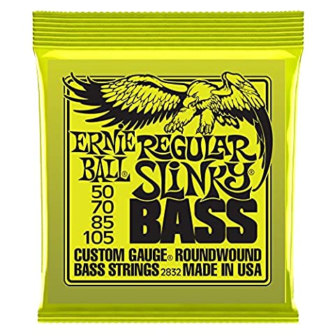 Ernie Ball Regular Slinky Nickel Wound Bass Set, .050 - .105 (Guitar / Bass)