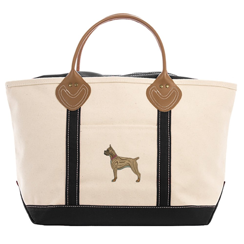 Boxer Ears Up Tote Bag