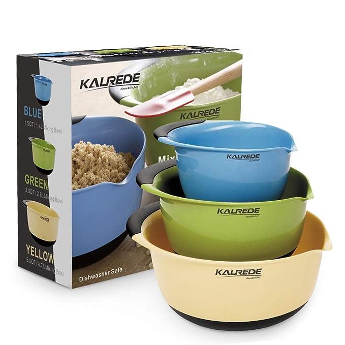 Kalrede Plastic Mixing Bowls Mixing Bowl Set Of 3 Big
