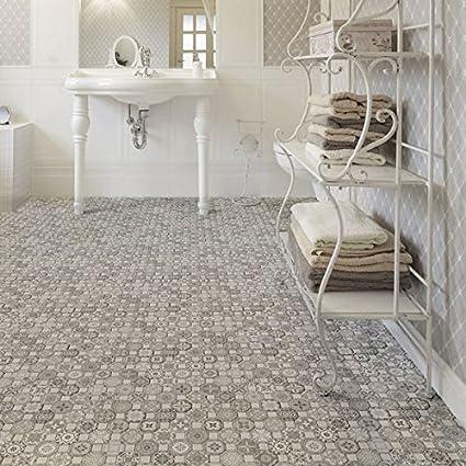 Amazoncom SomerTile Xinch Tesseract Grey Ceramic Floor - 13 inch floor tiles