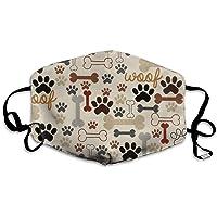 Mascarilla reutilizable con diseño de pata de perro