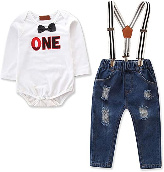 Infant Baby Boys Girls First Birthday Romper Cake Smash Jumpsuit Outfits Clothes