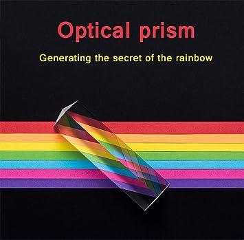 Optisches dreieckiges Prismenglas 15,2 cm Fotografie Kristallprisma f/ür Regenbogeneffekt Fotografieren Mehrfarbiges Spektrum Physik Wissenschaft Lehre