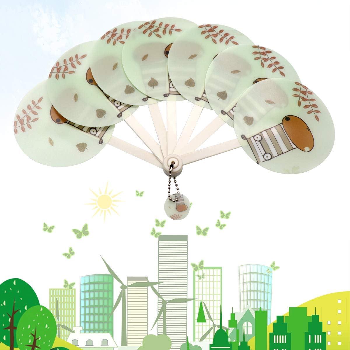 QiCheng/&LYS palmare Ventilatore con Luce LED Ufficio Mini USB Ricaricabile Ventilatore Portatile Alimentato a Batteria elettrica Fan Personali per casa Blue Camera da Letto Campeggio e Viaggio
