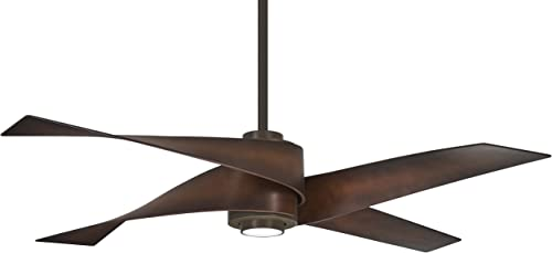 Minka Aire F903L-ORB, Artemis IV 64 LED Ceiling Fan, Oil Rubbed Bronze Finish with Toned Tobacco Blades