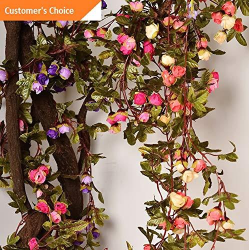 Hobnail Bell - Hebel 2.2M Artificial Fake Foliage Flower Vine Cirrus Garland Wedding Garden Fence Dec | Model ARTFCL - 1055 |
