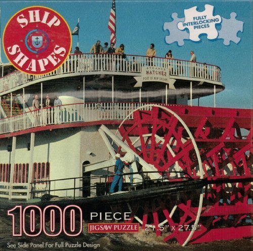SHIP SHAPES 1000 PIECE STEAMER NATCHEZ JIGSAW PUZZLE PORT OF NEW - Place Port Of Orleans New