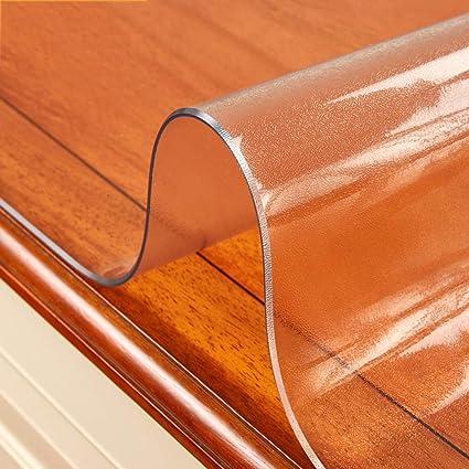 Amazon.ca & Clear Plastic Table Protector PVC Vinyl Tablelcloth Desk ...