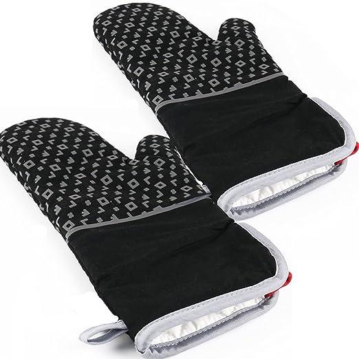Cocina bandeja antideslizante guantes de silicona para horno grill ...
