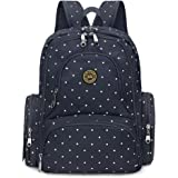 Diaper Bag Backpack Travel Backpack Nappy Bags, Changing Pad & Stroller Clips Included