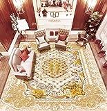 ZLJTYN 270cmX180cm 3D Floor Wallpaper European-style Luxury Modern Gold 3D Wallpaper For Ceiling Custom Size Wallpaper