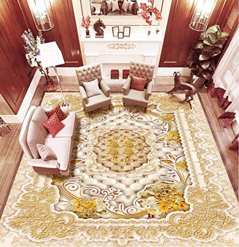 ZLJTYN 270cmX180cm 3D Floor Wallpaper European-style Luxury Modern Gold 3D Wallpaper For Ceiling Custom Size Wallpaper by ZLJTYN (Image #3)'