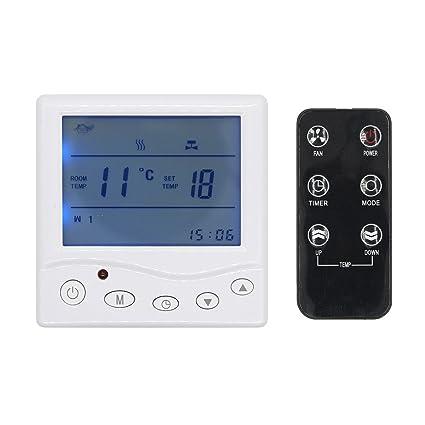 16A LCD pantalla control REMOTO termostatos digitales programables programador semanal para caldera calentador calefacción por suelo