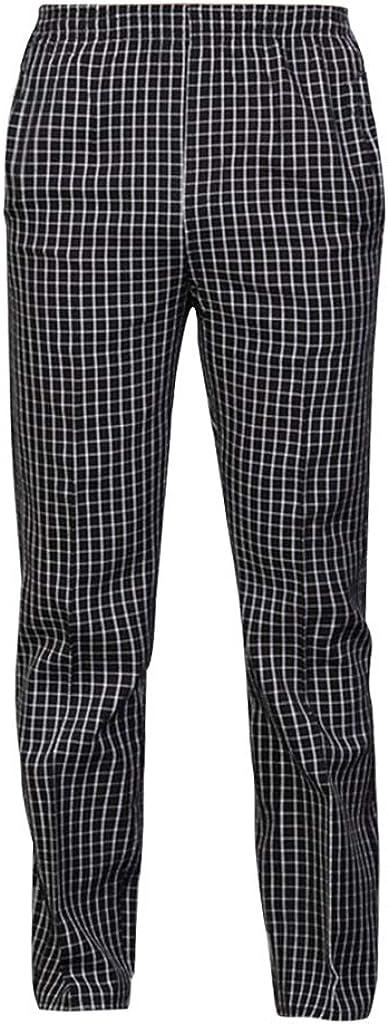 Homyl Pantalone Cuoco Basic//Pantaloni da Lavoro per Chef con Due Tasche Frontali Ideale per Lavoro