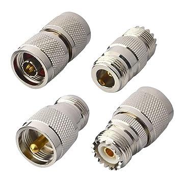 5 Pcs PAL Stecker zu Buchse Koaxialkabel F-type F TV Adapter Stecker
