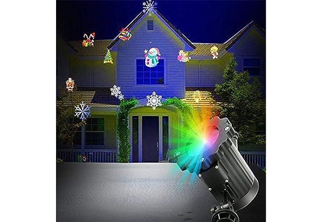 Proiettore Luci Di Natale Amazon.Faretto Led Picchetto Proiettore Luci Di Natale 6 In 1 Gioardino