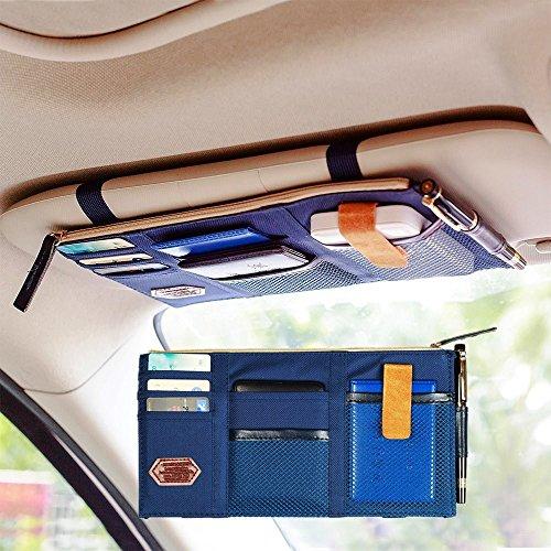 car visor organizer blue - 9