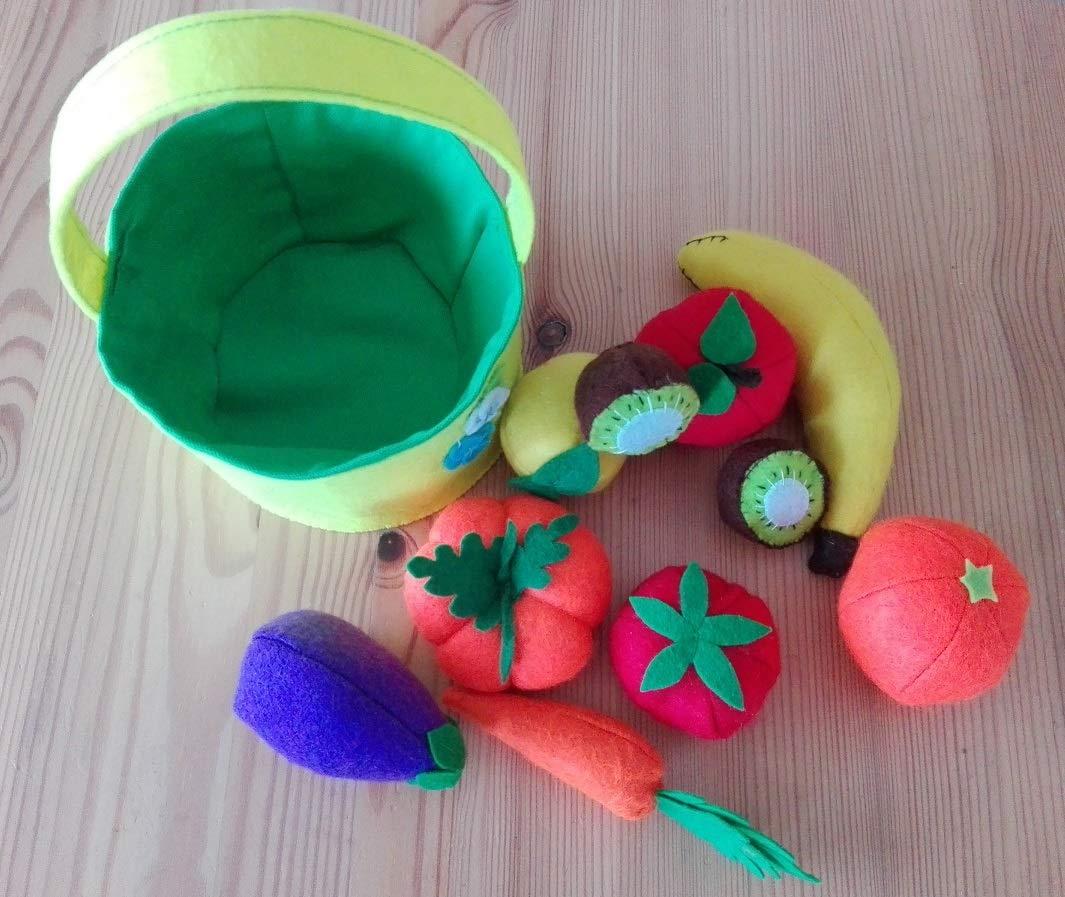 Juguete educativo cesta fruta y verdura